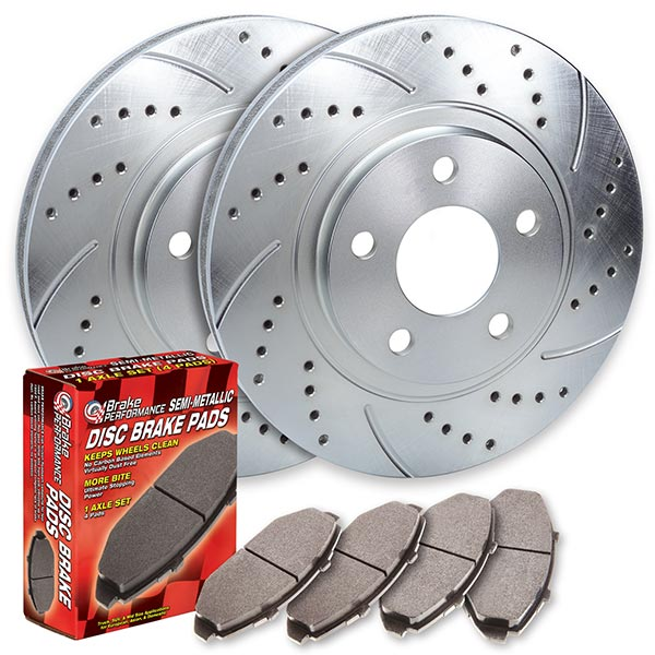 FRONT TOPBRAKES Performance Cross Drilled Slotted Brake Rotors 294mm TB34367