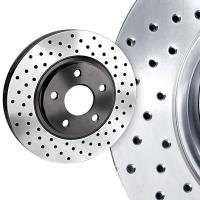 Cross Drilled Rotors >> Performance Drilled Slotted Brake Rotors